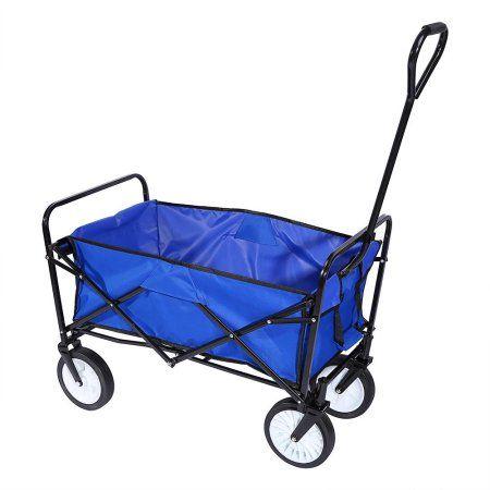 Outdoor Folding Utility Cart Handcart Foldable Garden Cart Garden