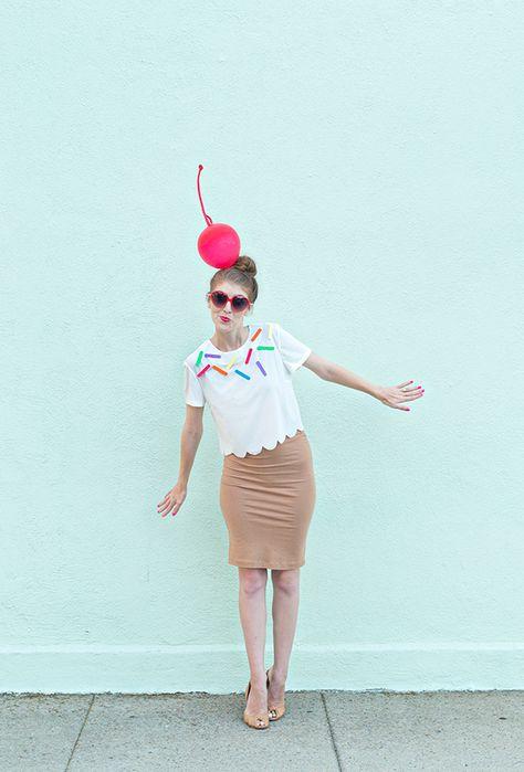 DIY Easy Ice Cream Cone Costume Tutorial