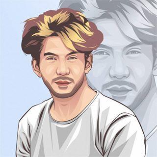 Pin Di Vector Portrait Illustration
