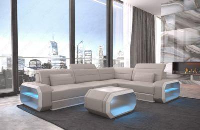Nice Sofa Dreams Ledercouch Verona mit LED Jetzt bestellen unter https moebel ladendirekt de wohnzimmer sofas wohnlandschaften uid udcfebc ea fd