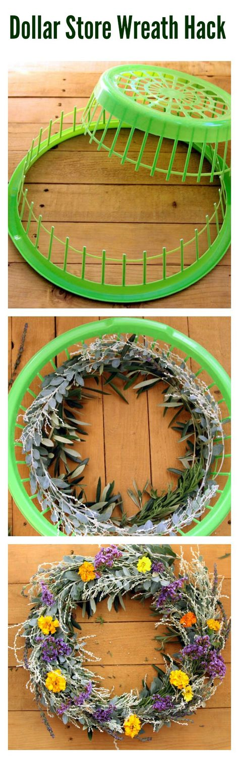 There's no better way to dress your door for the season than with a beautiful DIY wreath. Use this seriously smart hack to easily make your own inexpensive wreath. All you need is a dollar store laundry basket.