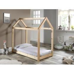 Hausbett Cabane Natur Massivholz 70x140 Cm Roller In 2020 Bett Ideen Hausbett Bett Modern