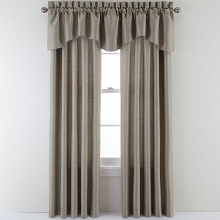 Sutton Place Antique Satin Rod Pocket Curtain Panel Rod Pocket