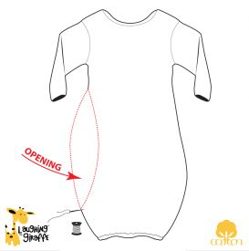 Baby Sleeper Gown with open side for EASY EMBROIDERY | Baby Bath ...