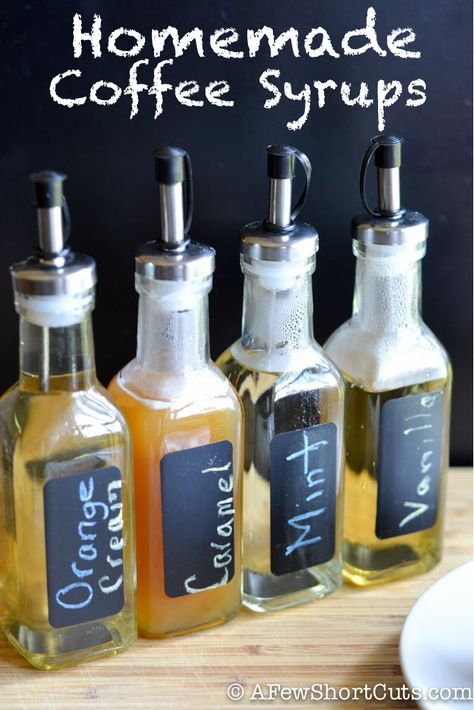 SIMPLY DELICIOUS!!! Have cafe style coffee at home with these SIMPLE Homemade Coffee Syrups