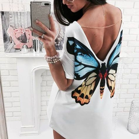 Kailyn Cat/Butterfly Print Long Tee
