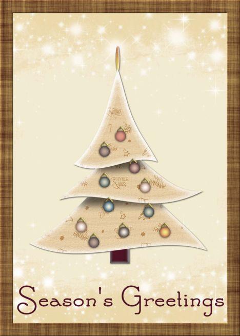 Christmas Tree Season S Greetings Card Industrial Photography