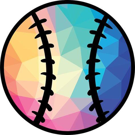 'Geometric Softball Shape Low Poly Softball Gift' Sticker by davdmark Softball Bows, Softball Gifts, Girls Softball, Softball Players, Fastpitch Softball, Softball Nails, Softball Things, Softball Cheers, Softball Pitching