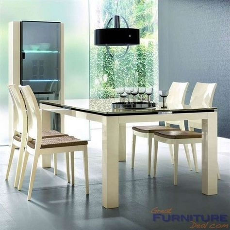 Rossetto Furniture  Diamond Ivory Dining Table  Av6703  Ivory Delectable Ivory Dining Room Set Design Decoration
