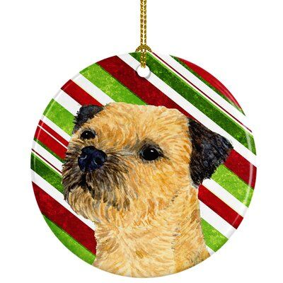 The Holiday Aisle Border Terrier Candy Cane Holiday Christmas