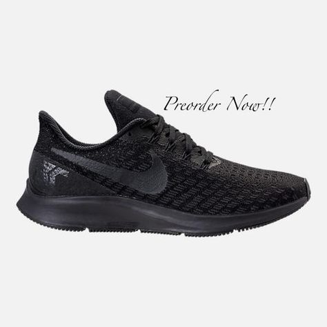 81ba96dad2e6 Swarovski Women s Nike Air Zoom Pegasus 35 All Black Sneakers Blinged Out  With Clear Swarovski Crystals Custom Bling Nike Shoes