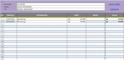 Aplikasi Tabungan Siswa Di Sekolah Format Excel Gratis Tabungan Aplikasi Sekolah