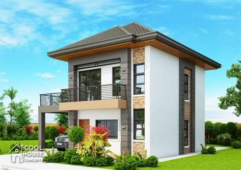 Three Bedroom Contemporary House With Spacious Terrace Cool House Concepts House Outside Design Contemporary House Small House Design Plans