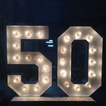 100 50th Birthday Party Ideas By A Professional Party Planner Large Light Up Letters Birthday Lights 70th Birthday Parties