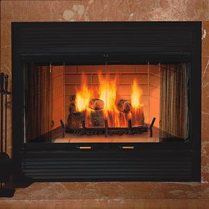 Majestic Sovereign Heat Circulating Wood Burning Fireplace Wood
