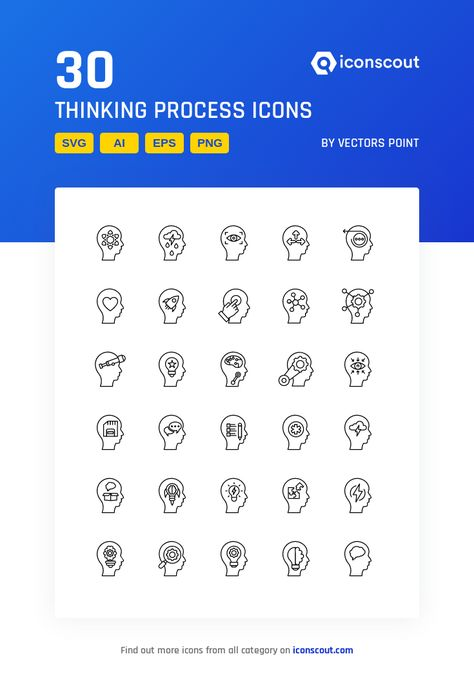 Download Thinking Process Icon pack - Available in SVG, PNG, EPS, AI & Icon fonts