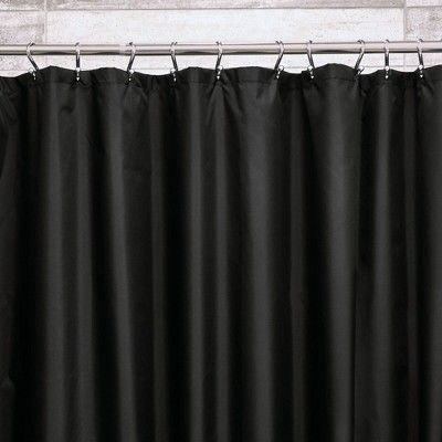 Shower Curtain Liner With Rollerz Black Idesign In 2020 Black