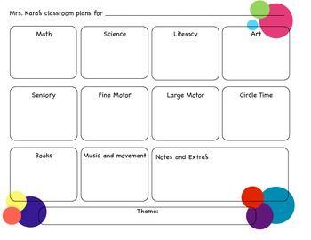 Toddler Lesson Plans For October Preschool Lesson Plan Template - Lesson plan preschool template