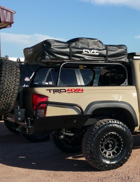 C4 Fab 2016 Tacoma Full Height Bed Rack 7 Tacoma Truck Tacoma Accessories Tacoma Tent