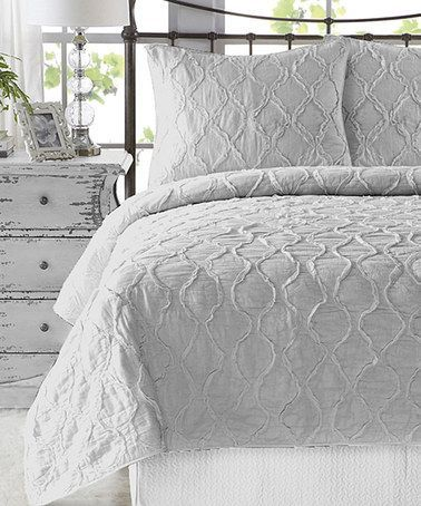 Bed Linen, Light Grey Bedspread Grey Duvet Cover Queen Quilt