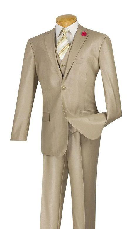 Vinci Suit SV2R-3-Beige - Beige / 46R