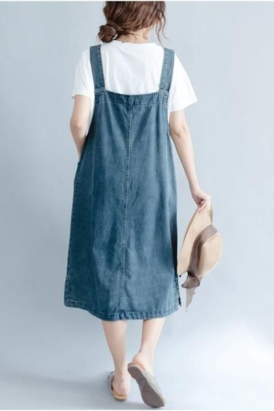 2018 Summer Blue Denim Suspender Skirt Women Clothes