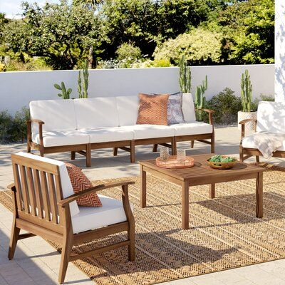 Mistana Antonia 6 Piece Sofa Seating Group With Cushions Outdoor Furniture Outdoor Furniture Sets Furniture