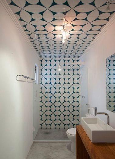 Carrelage Mur Et Plafond Salle De Bain En 2020 Salle De Bain