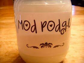 Homemade Modge podge