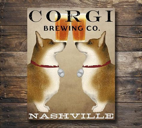 Free Customization Double Corgi Brewing Company Beer Sign Gallery