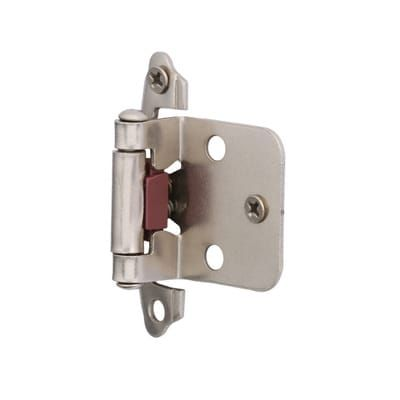 Hickory Hardware Surface Mounted Satin Nickel Self Closing Overlay Hinge 20 Pack Vp244 Sn The Home Depot Hickory Hardware Overlay Hinges Satin Nickel