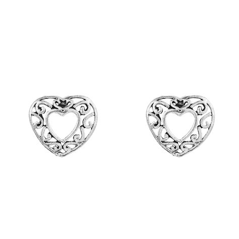 Material: 925 Sterling SilverWeight: LightHypoallergenic / Nickel-free30 days easy returnsHandmade What better way to show someone you care for them than with these sterling silver heart stud earrings?Maybe you just wanna show some self love either way these stud earrings are the perfect set of earrings for you. Offering a more unique design these stud earrings stand out from other heart earrings designed in the UK. These stud earrings offer a new and exciting look that will be bound to bring to