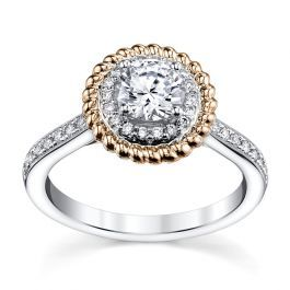 d45043f069d1a RB Signature 14K Two-Tone Diamond Engagement Ring Setting 1/4 Cttw ...