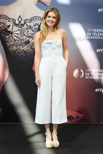 Meghann Fahy from the series 'The Bold Type' attends a photocall during the 58th Monte Carlo TV Festival.