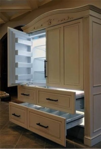 Fridge That Looks Like Cabinets   Books Worth Reading   Pinterest    Kitchens, House And Apartments