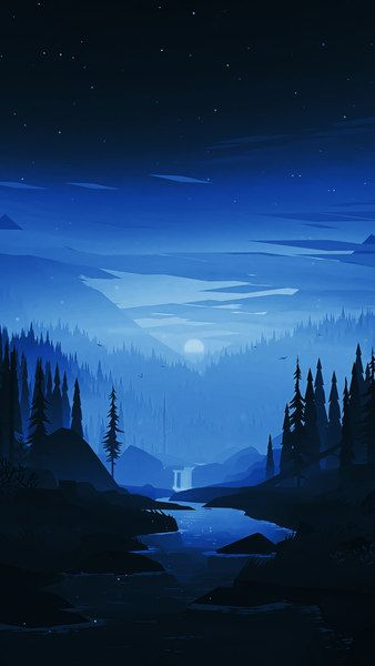 Night Moon Forest Scenery Digital Art 8k Click Image For Hd Mobile And Desktop Wallpaper 7680x4 Artistic Wallpaper Landscape Wallpaper Scenery Wallpaper