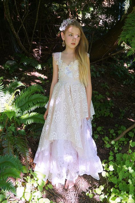 9126fab78d9 Petal Gown... boho flower girl junior bridesmaid dress bohemian ...