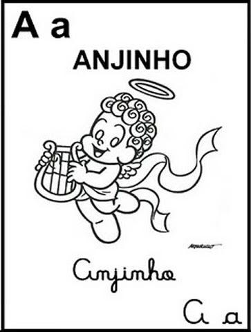 Desenho De Alfabeto Da Turma Da Monica Letra S Para Colorir