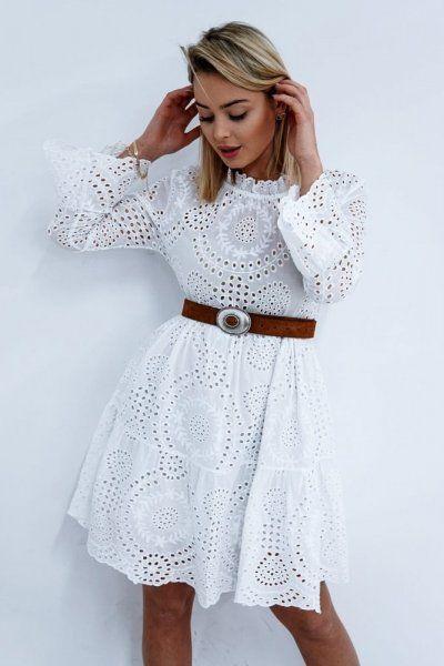 61e4842896238a SUKIENKA INGA WHITE - Sprzedaż odzieży online dla kobiet, sukienki,  koszule, swetry,