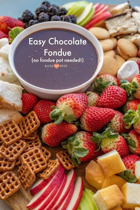 Homemade Chocolate Fondue Recipe Easy Chocolate Dessert Recipe In 2020 Chocolate Fondue Recipe Easy Chocolate Fondue Recipe Easy Fondue Recipes