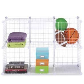 Fengshuiorganizers Com White Storage Cubes Set Of 6 20 In 2020 Cube Storage Wire Storage Wire Shelving