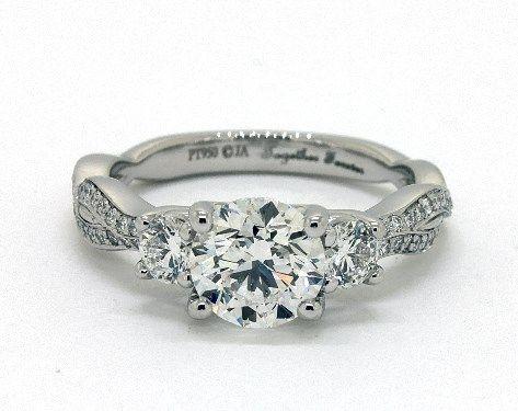 1 34ct Round Infinity Crossover Three Stone Diamond Engagement Ring I Three Stone Diamond Rings Engagement Three Stone Engagement Rings Three Stone Engagement