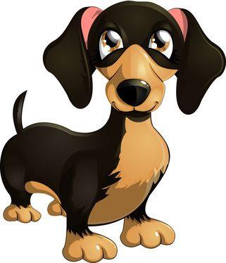Dachshund Dog With Big Eyes And Floppy Ears Dog Clip Art Animal