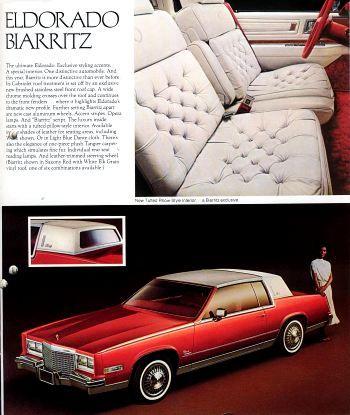 1982 Cadillac Dlx Brochure Eldorado Biarritz Fleetwood