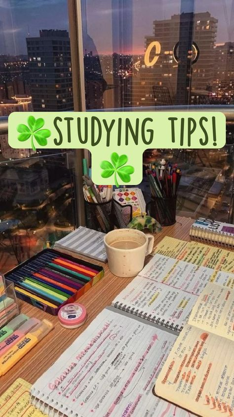 ☘️studying tips!☘️
