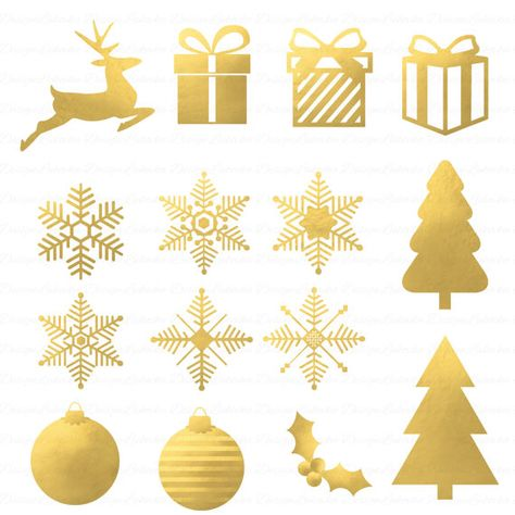 Gold Christmas Clipart Gold Christmas Borders Snowflakes Gold Foil Clipart Foil Christmas C Christmas Tree Clipart Christmas Clipart Tree Painting Canvas