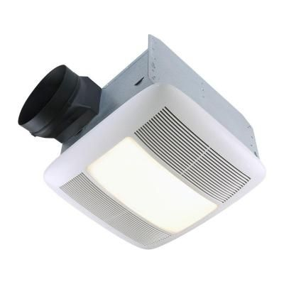 Nutone Qt Series Very Quiet 110 Cfm Ceiling Exhaust Bath Fan With Light And Nightlight Energy Star Qualif Ceiling Fan Bathroom Bathroom Fan Light Bathroom Fan