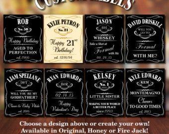 Custom Jack Daniels Groomsmen Labels Liquor Bottle Labels Jack Daniels Label Jack Daniels Bottle