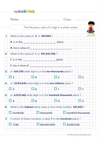 Printable 6th Grade Whole Numbers Worksheets Pdf Grade 6 Math Worksheets Grade 6 Math Math Worksheets