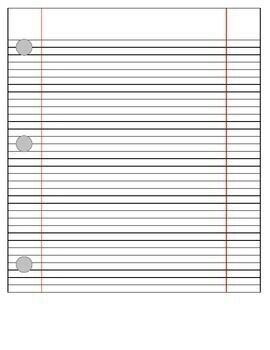 This Is Simply A Word Document That Looks Like Notebook Paper.  Notebook Paper Template For Word